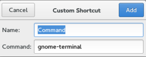 Shortcut gnome-terminal